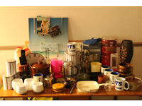 CAR BOOT SALE BUNDLE JOB LOT INCLUDING 75 ITEMS (NEW & USED) CURTAINS CUSHIONS MIRROR LAMP KITCHEN