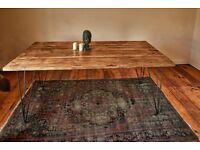 Handmade Industrial Hairpin Dining Table/Desk - Custom Sizes