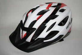 Ridge Road Rider Bike Bicycle Cycling Air Helmet in Red Whiter 54-59cm Used ONCE