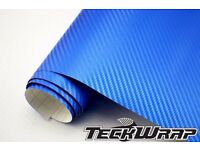 3D Blue Vinyl Wrap Car Styling Stickers Decal sheets 1x1.5 meter