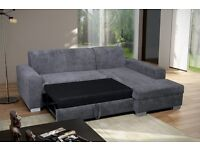 Superb Brand New Corner Sofa Bed With Storage..GREY OR BEIGE. Can deliver