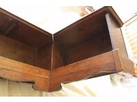 Vintage Oak Bookshelf Unit, this period corner shelf is for the perfect right angle.