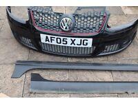 VW Golf Mk5 Front bumper/side skirts/ Monza alloy wheels 18inch (NOT REPLICA) ORIGINAL PARTS