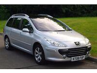 2008 Peugeot 307 SW SE HDi.. Diesel.. Estate.. Good Spec.. Bargain To Clear..