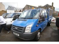 FORD TRANSIT 100 T-350 LWB DOUBLE CAB TIPPER – 08-REG