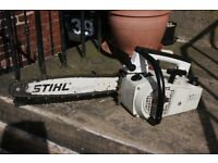 Petrol Stihl 020av top handle chainsaw