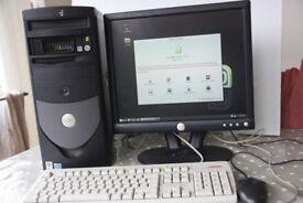 "Dell Optiplex GX270 Linux Mint Workstation (2GB RAM, 2.8 GHz) 17"" Monitor, key&m"