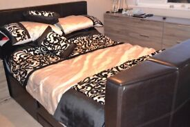 King Size TV Ottoman Storage Bed