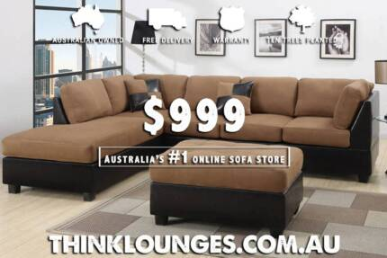 New - Large Micro Suede Lounge, Couch, Sofa - Delivered! Melbourne CBD Melbourne City Preview