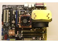 ASUS Motherboard P5N-D Bundle Intel Core2 Duo CPU E8500 3.16GHz 64-Bit and 4GB DDR2 RAM Standard ATX