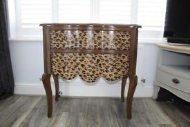 Vintage leopard print drawers