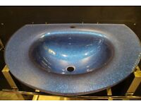 Glass Blue Basin - ExDisplay - ONLY £80!