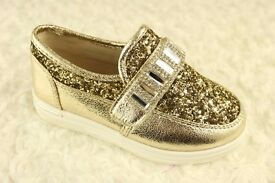 Kelsi Gold Shoes - All sizes - Brand New & Boxed
