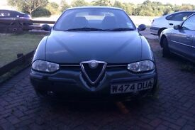 Alfa Romeo 156 2.0 TS - Spares or Repair + EXCELLENT Condition Leather Seats & Interior