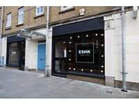 (SHOREDITCH, EAST LONDON) Hairdressers/receptionists/assistants required