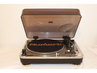 Numark Pro-TT1 Chrome Direct Drive Turntable - 33,45,78RPM - Digital Pitch Control 10-20%.