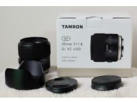 Tamron SP 35mm f1.8 Di VC USD lens for Canon EOS DSLR cameras like 1ds ii iii 5d iv 6d 7d 70d 80d 1d