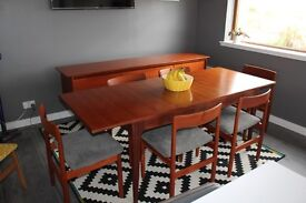 A.Younger & Sons Extendable Dining Table & 6 Chairs Mid Century Retro Danish Beautiful set!