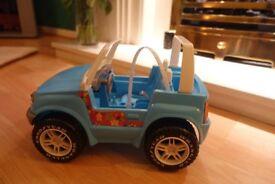 Blue Barbie Jeep - no box