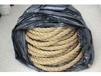 SHEFFIELD PURE BRAIDED TWISTED BOATING SASH GARDEN DECKING JUTE ROPES > £80!!!