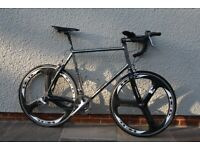 Bob Jackson bicycle including full Dura-Ace groupset and carbon aero forks, etc