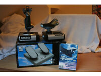Saitek X52 flight control system plus CH PC Pro rudder pedals