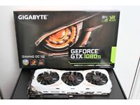 Gigabyte NVIDIA GeForce GTX 1080 Ti GAMING OC 11G GDDR5x Graphics Card - White