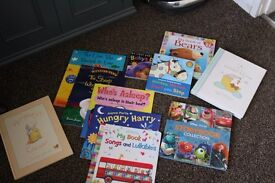 Selection of baby books x 11 new and used,