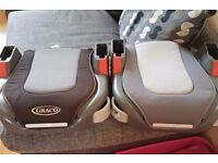 Pair of booster car seats