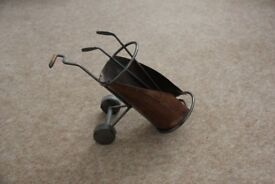 Metal Golf Cart Wine Caddy