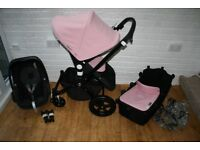 Bugaboo Cameleon Cam 3 pram + car seat 3 in 1 Soft Pink / Black travel system CAN POST