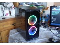 Gaming PC AMD 3.5GHz Quad Core 8GB RAM 120GB SSD RX 560 4GB GPU Windows 10