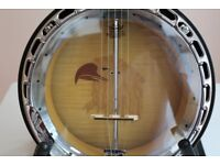 Banjo 5 String Eagle Motif.