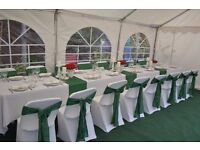 Party tents, tables and chairs, roof lining, lighting, carpet,for hire