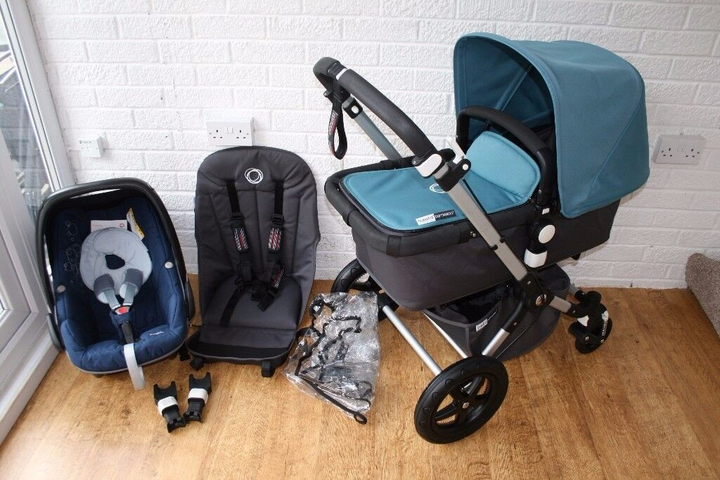 Bugaboo Cameleon 3 Petrol blue pram with/without car seat 3 in 1 *can post*