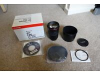 Canon 135mm F2.0 L lens and UV filter