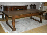 beautiful 8ft antique oak refectory table