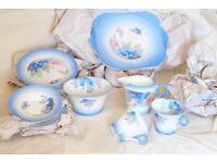 Shelley Phlox Porcelain China 21 piece Tea set service W12189 cups plates etc Vintage Antique