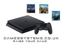 Brand New PS4 Slim 500GB Console with Prey, Far Cry 5 & God of War for just £299.99!