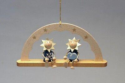 Baumbehang Schwibbogen Sterne und Wolke 5 cm Christbaumschmuck Seiffen NEU