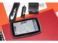 "Excellent condition - TomTom GO 5000 5"" Sat Nav with EU Maps and Lifetime Map and Traffic Updates"