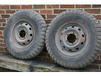 wheels and tyres to fit 1945 onwards jeep