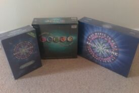 Set of 3 Board Games - Who Wants to be a Millionaire - All Brand New
