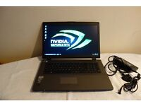 PC Specialist Nvidia GTX Gaming Laptop 17 Inches 1080p Screen I7 4TH 3.5GHz 500GB SSD 8GB Fan