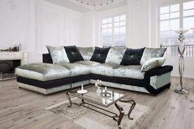 Brand New-- Jumbo Cord /Crush Velvet-- Dino Corner /3+2 Sofa-- Same Day Delivery-- Cheapest Price