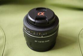 Sony DT 50mm f1.8 SAM digital camera lens