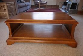 Solid Oak wooden TV Table