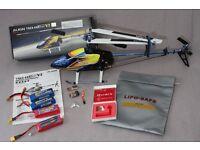 Align t-rex 450 V2 sport RC helicopter, spartan quark, spektrum, hitec, ARF