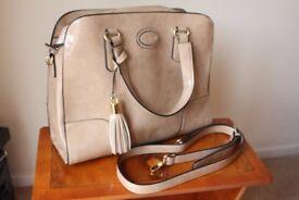 Jasper Conran Beige patent handbag