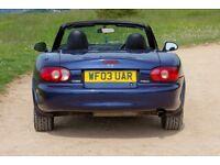 2003 Mazda Mx-5 1.8 S-VT Sport 6 speed, Lsd, Blue
